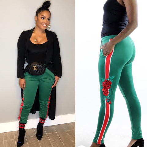1 INSPIRED PANTS GREEN