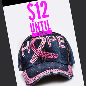 1 HOPE CANCER HAT