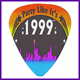 Party Like It's 1999® Design 02 Guitar Pick