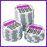 Party Like It's 1999® Design 03 Poker Chips