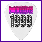 Party Like It's 1999® Design 03 Guitar Pick