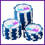 Party Like It's 1999® Design 04 Poker Chips