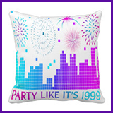 Party Like It's 1999® Design 04 Pillows