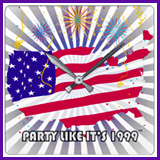 Party Like It's 1999® Design 07 Clock