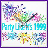 Party Like It's 1999® Design 08 Clock