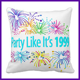 Party Like It's 1999® Design 08 Pillow