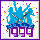 Party Like It's 1999® Design 09 Clock