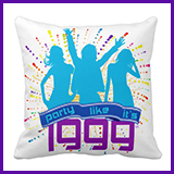 Party Like It's 1999® Design 09 Pillow