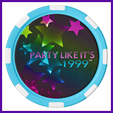 Party Like It's 1999® Design 11 Poker Chips