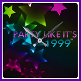 Party Like It's 1999® Design 11 Clock