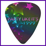 Party Like It's 1999® Design 11 Guitar Pick