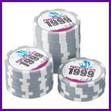 Party Like It's 1999® Design 13 Poker Chips