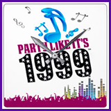 Party Like It's 1999® Design 13 Clock