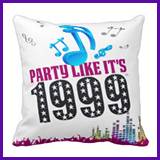 Party Like It's 1999® Design 13 Pillow