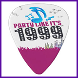 Party Like It's 1999® Design 13 Guitar Pick