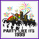 Party Like It's 1999® Design 15 Clock