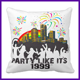 Party Like It's 1999® Design 15 Pillow