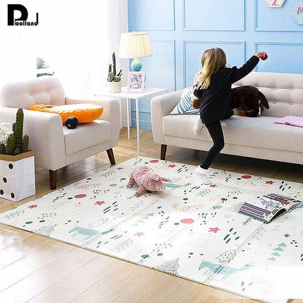 150*200*1CM Baby Play Mat Puzzle Children's Foam Mat Thickened Baby Room Crawling Pad Folding Mat Baby Carpet non-slip floormat
