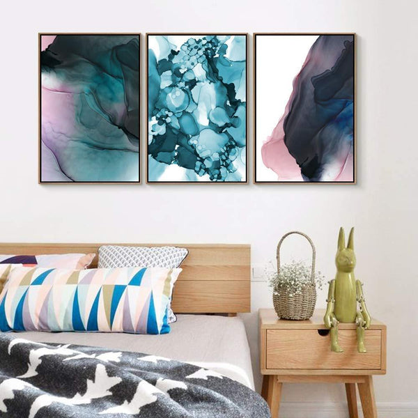 3 Piece Canvas Wall Art  Abstract Canvas Prints  Floating Framed for Living Room Home Decoration Drop shipping