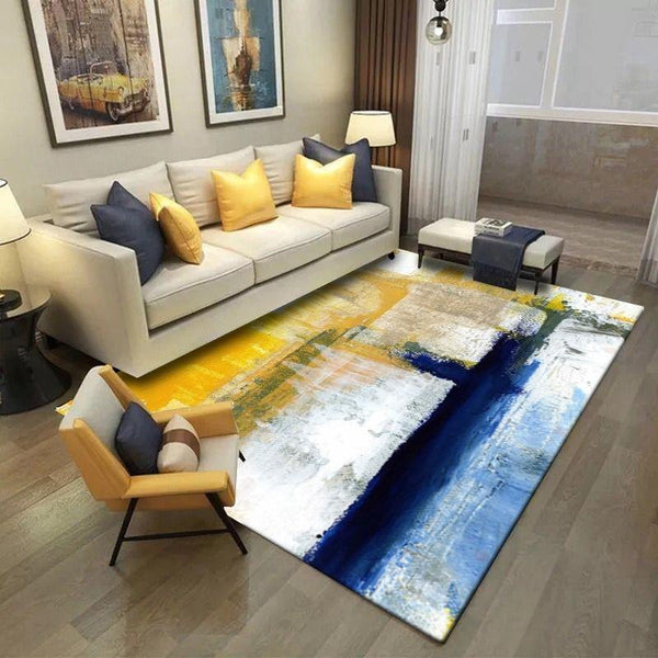 Abstract Oil Painting Pattern Carpets For Living Room Bedroom Rectangle Area Rugs Non-Slip Coffee Table Floor Mat Bedside Tapete