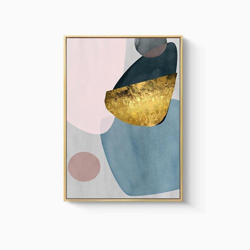 Abstract Gold Foil Wall Art Prints - Set of 3 (50x70cm) - Fansee Australia