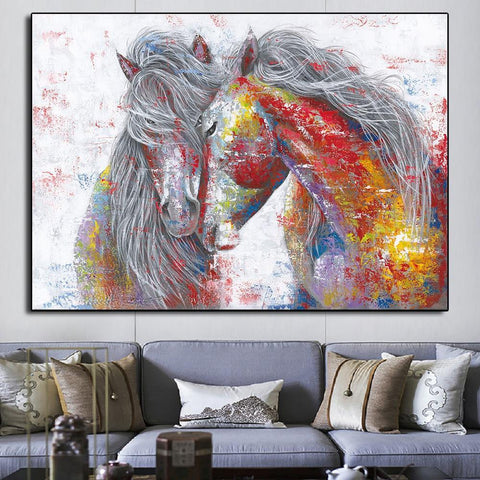 Abstract Horse Wall Art (Canvas Print 100x70cm) - Fansee Australia