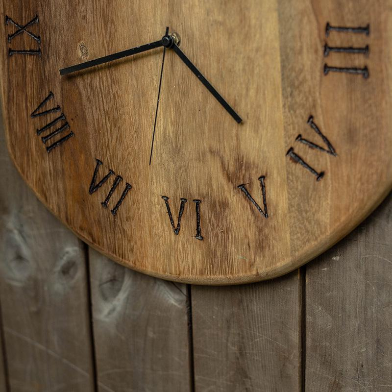 Artisian Handcrafted Oak Wood Wall Clock - Fansee Australia