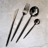 Black Cutlery Set - Serenade (16 Piece Cutlery Set) - Fansee Australia