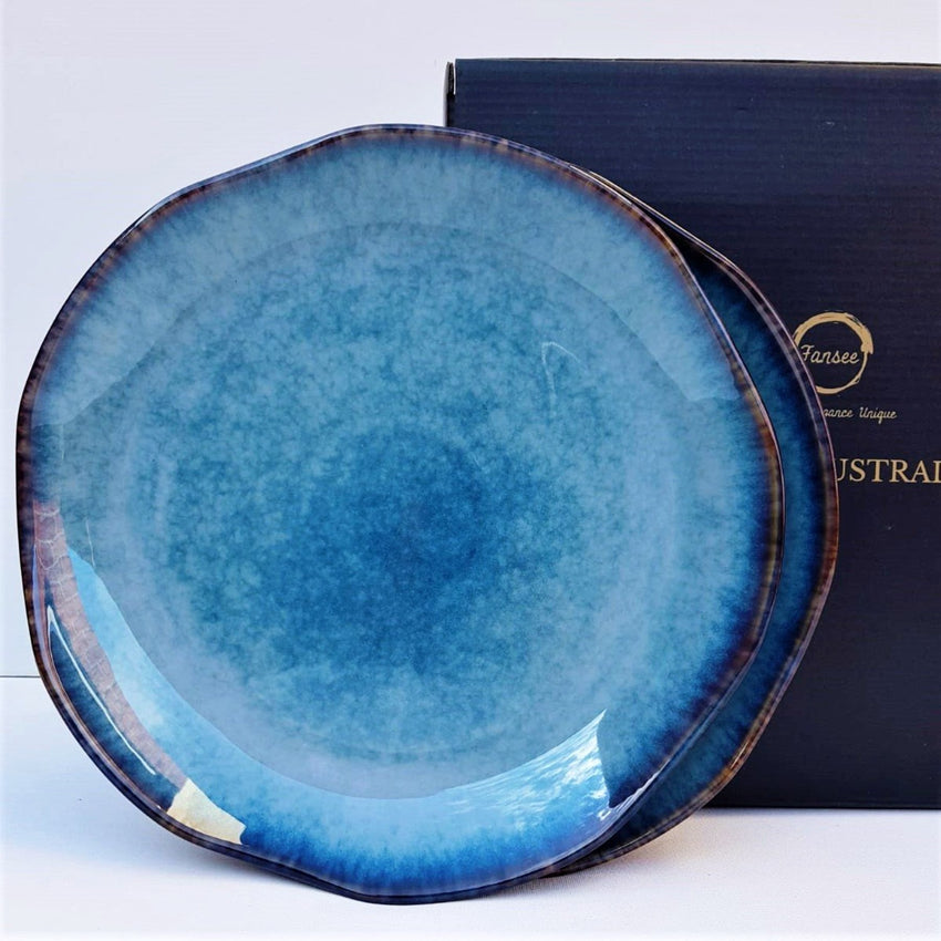 Blue Dinner Set - Cosmos UFO (4 Piece Dinner Plate Set) - Fansee Australia