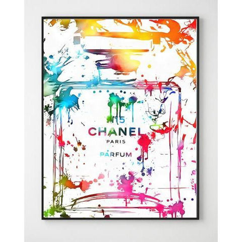 Chanel Perfume Bottle Wall Art Canvas Print - Fansee Australia
