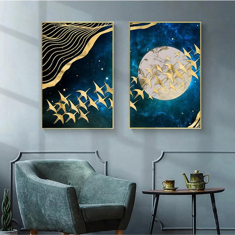 Classic Moon Abstract Wall Art - Canvas Print - Fansee Australia