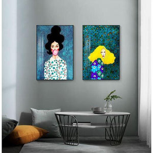 Colorful Girls Wall Art Print - Fansee Australia