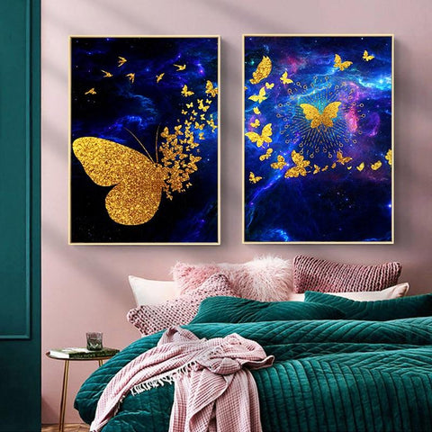 Butterfly Canvas Print Wall Art for Kids Room- Fansee Australia
