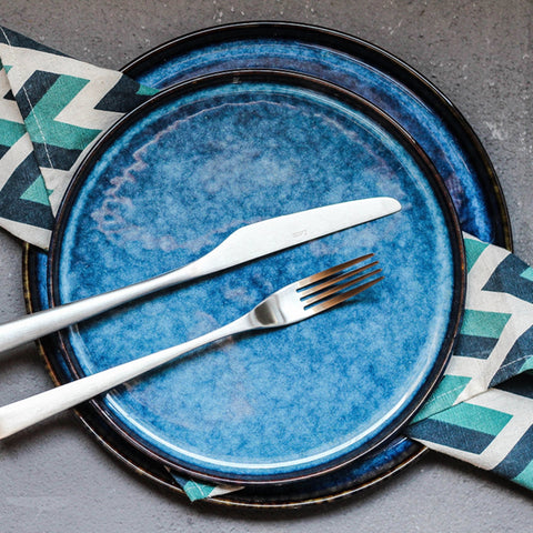 Dinner Plates - Australian Blue Large (25.5 cm 4 Piece Dinner Plate Set) - Fansee Australia