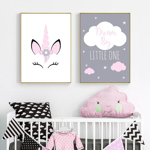 Dream Big Kids Wall Art Print ( Set of 3) - Fansee Australia