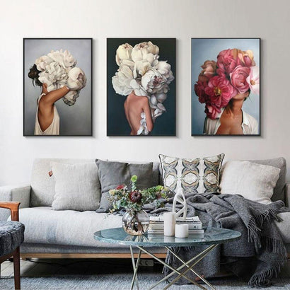 Flower Girls Canvas Prints (Set of 3 - 60x80cm) - Fansee Australia