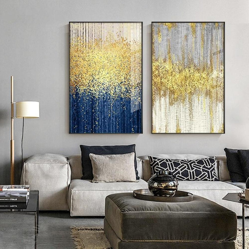 Golden Drizzle Wall Art Print - Fansee Australia