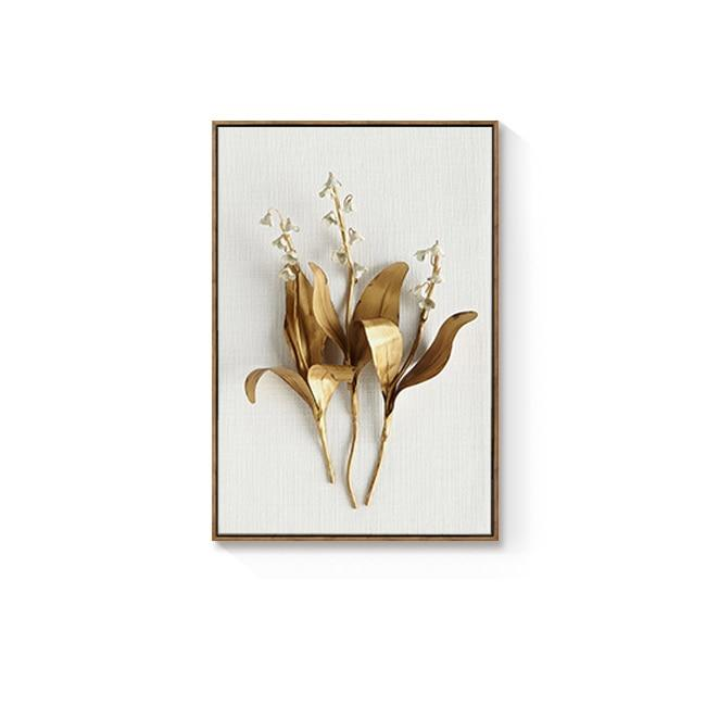 Golden flowers Wall art Prints - Fansee Australia