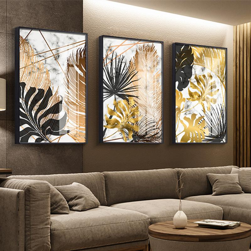 Golden Leaf Wall Art Prints - Fansee Australia