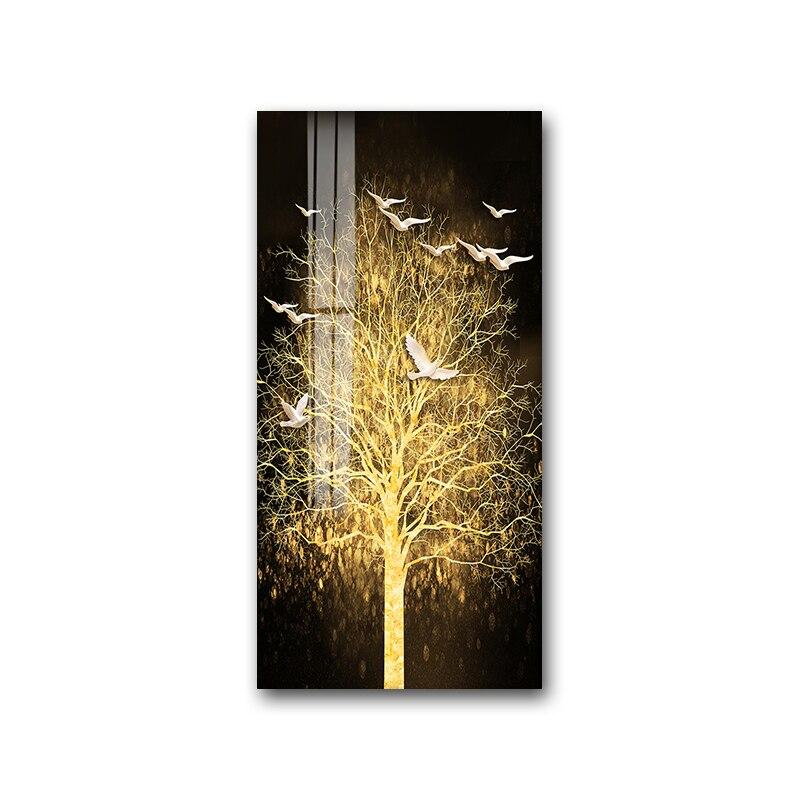 Golden Tree Wall Art Prints On Canvas - Fansee Australia
