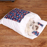 Kawaii Removable Cats Bed House Home Supplies Products for Adult Cats Large Pet Dog Bed Cat's House Cave Comfortable Food Cute - Fansee Australia