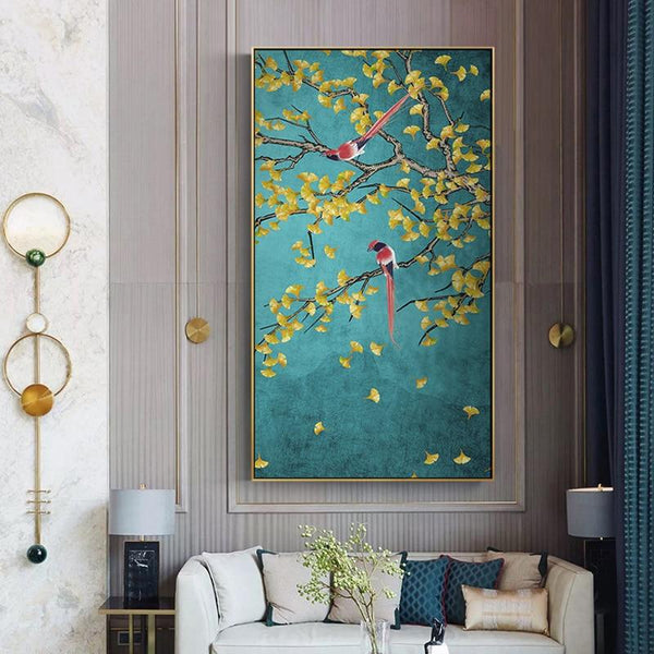 Magpie Birds Print On Canvas - Fansee Australia