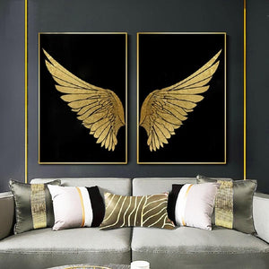 Angel Golden Wings Wall Art Prints - Fansee Australia