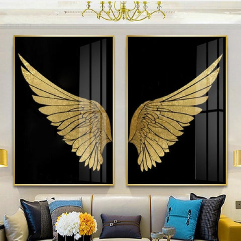 Angel Golden Wings Canvas Prints - Fansee Australia