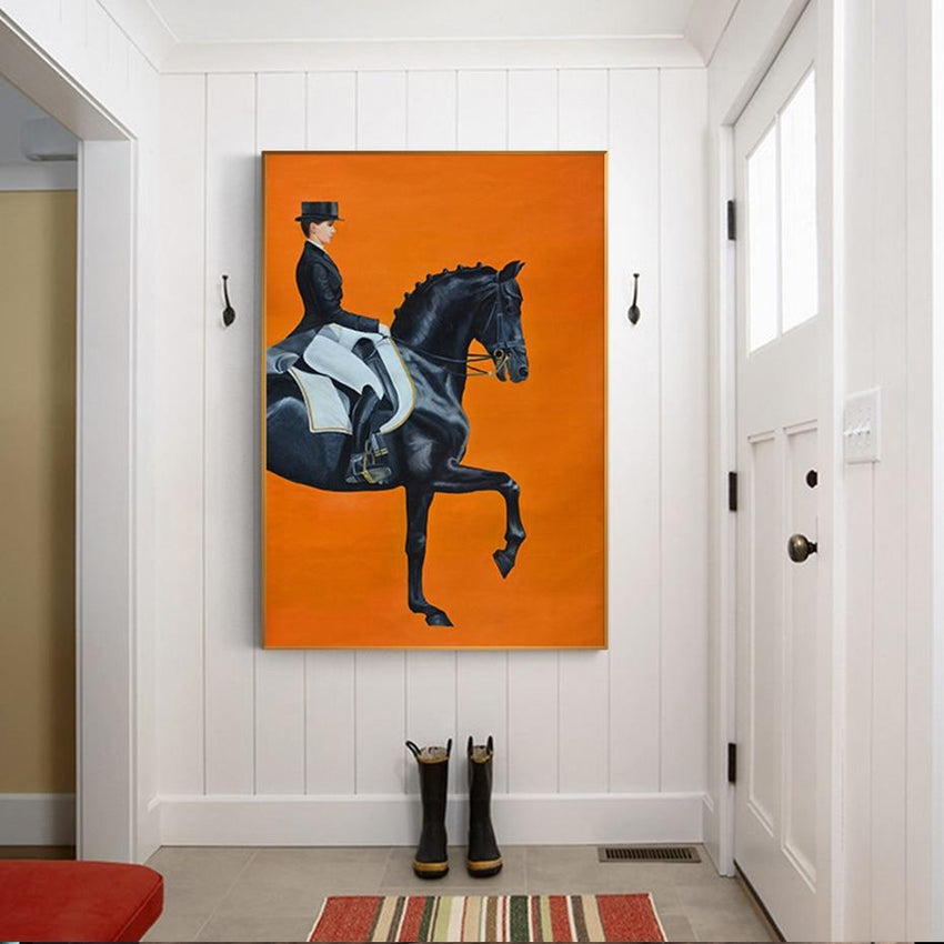On Horseback  Print On Canvas - Fansee Australia