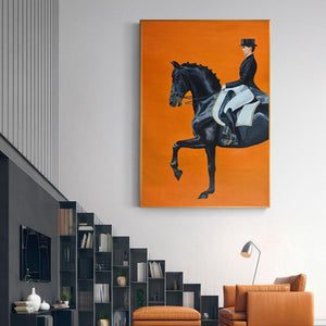 On Horseback Wall Art Canvas Prints - Fansee Australia