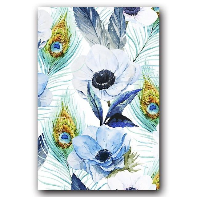 PARROTS, LEAVES & FLOWERS in Watercolour Canvas Prints - SET OF 3 - Fansee Australia