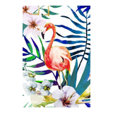Scandinavian Home Decor Cuadros Poster And Print Watercolor Canvas Painting Parrot Flamingo Modular Nordic Wall Art Picture - Fansee Australia