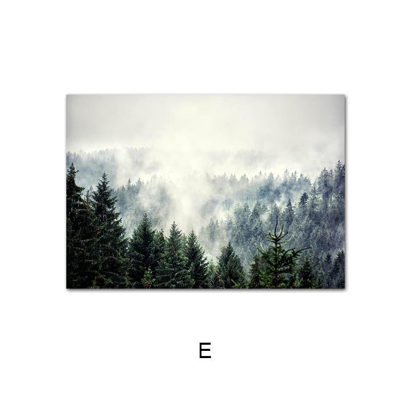 Spectacular Forest, Mountain, Lake, Deer Canvas Wall Art Prints - Fansee Australia