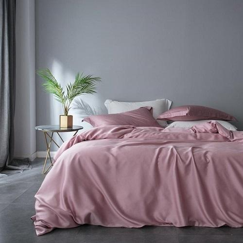 Tencel Silk Soft Quilt Cover Set - Pink - Fansee Australia